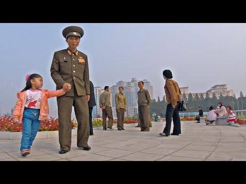 My kids play in Downtown Pyongyang - North Korea