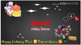 Birthday video for name simran