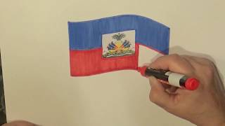 Learn geography for kids How to draw a flag Haiti