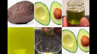 DIY Cold Pressed Avocado Oil. Easy To Prepare.