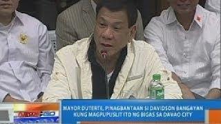 Mayor Duterte, pinagbantaan si Davidson Bangayan kung magpupuslit ng bigas sa Davao City