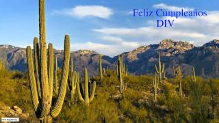 Div   Nature & Naturaleza - Happy Birthday