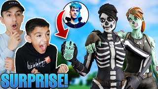 I Surprised My Little Brother With Ninja's Finalmouse! Fortnite Duo Win!