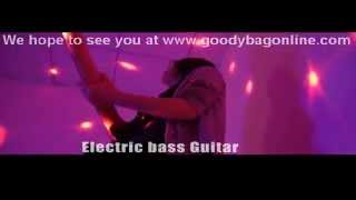 "Electric Bass Guitar ""Gecko"" - Basswood Body, Maple Neck, Single Pickup"