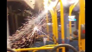 RAW: Firework explodes inside London bus