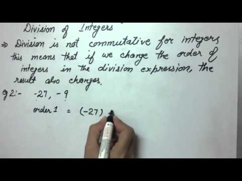 Commutative Property (Division of integers) at Algebra Den