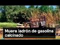 Muere ladrón de gasolina calcinado - Huachicoleros - Denise Maerker 10 en punto
