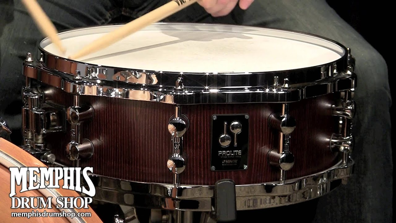 Sonor 14 X 5 Prolite Snare Drum Nussbaum Satin Youtube
