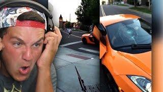 Kid smashes McLaren