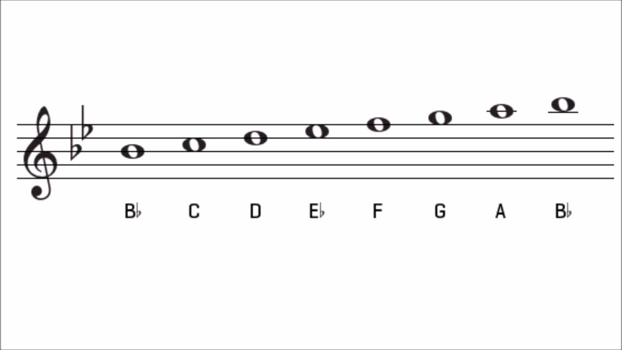 The B Flat Major Scale How To Play Form
