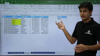 MS Excel - Advanced Filters