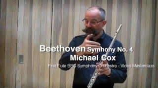 Бетховен, Симфония №4, видео урок первой флейты BBC Symphony Майкла Кокса