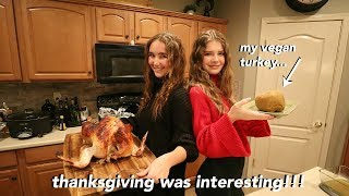 my first vegetarian thanksgiving....