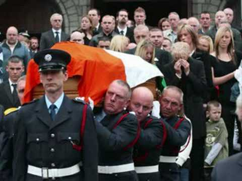 Brian Murray funeral + fire protest