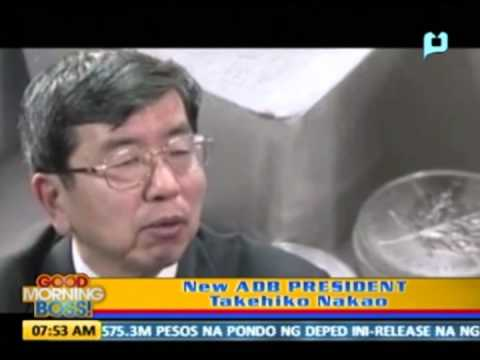 New ADB President Takehiko Nakao