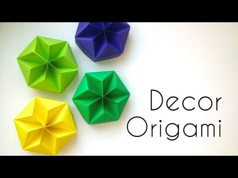 Bright Origami Wall Decor Origami Video Lesson
