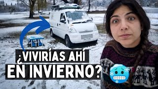 Les muestro TODO [24/7 #VanLife en INVIERNO❄️☃️] Hace 15 años que NO NEVABA 😳  en Córdoba Argentina