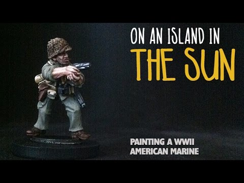 On an island in the sun: Painting a WWII American marine
