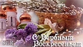 ОТКРЫТКА С вербным воскресеньем !