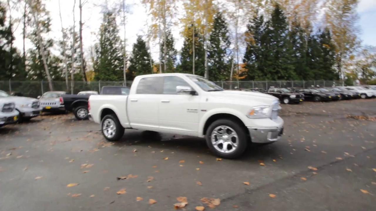2017 dodge ram 1500 laramie crew cab 4x4 pearl white hs548796 redmond seattle youtube. Black Bedroom Furniture Sets. Home Design Ideas