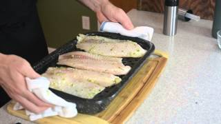 Broiled Tilapia With Steamed Green Beans And Barley Pilaf