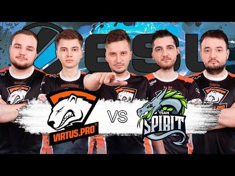 🔴КРУТОЕ НАЧАЛО ESL МАЖОРА | Virtus Pro vs Spirit ESL One Birmingham 2018