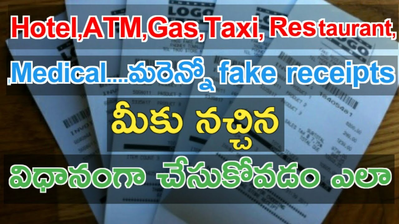 how to create fake receipts bills | Best Fake Receipt Creator Tools | in  telugu | Tcf
