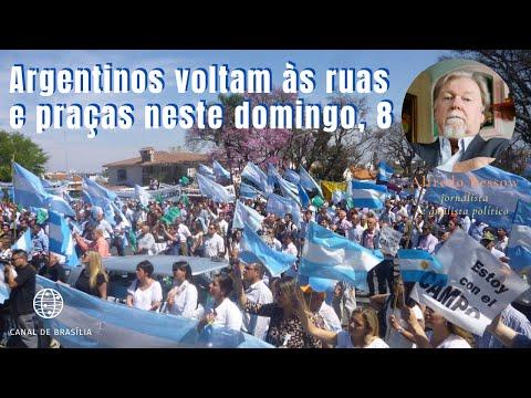 Em defesa da liberdade, argentinos voltam às ruas neste domingo, 8