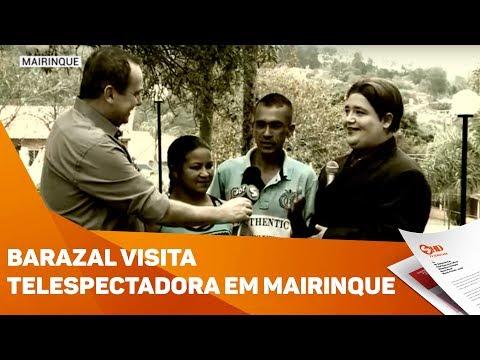 Eduardo Barazal visita telespectadora de Mairinque - TV SOROCABA/SBT