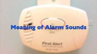 Meaning of Beep and Chirp Sounds of a Carbon Monoxide Detector (First Alert)