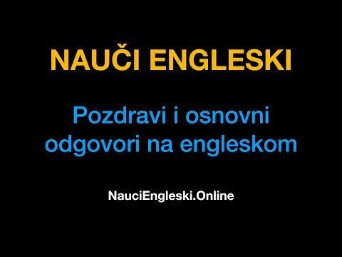 Engleski Jezik 2 : Pozdravi I Osnovni Odgovori Na Engleskom - NauciEngleski.Online