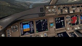 FSX PMDG 777 Mouse Yoke Landing @ LOWI #TheBestLandingEver