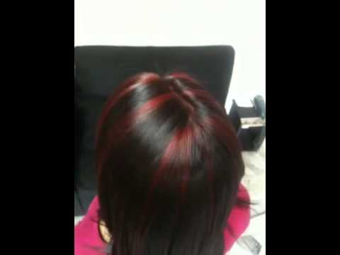 Como hacer mechas rojas en cabello corto