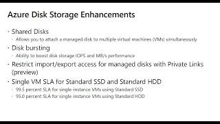 Azure Disk Storage Enhancements