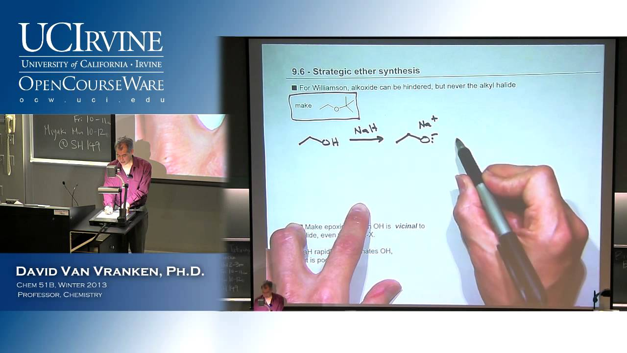 Organic Chemistry 51B. Lecture 03. Alcohols, Ethers, and Epoxides Part 2. - YouTube