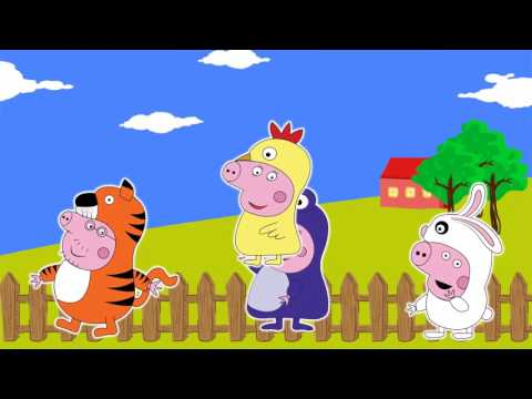 Peppa Pig Five Little Fingers | Parts of the Body Song | Popular Action Songs & Nursery Rhymes