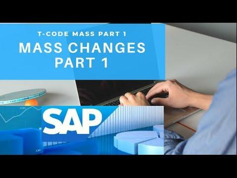 Mass T-Code Part 1: SAP