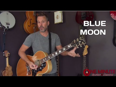 Blue Moon by The Marcels - 1 Minute Guitar Lesson