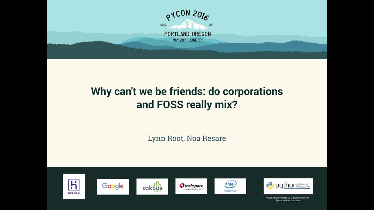 Image from Why can't we be friends: do corporations and FOSS really mix?