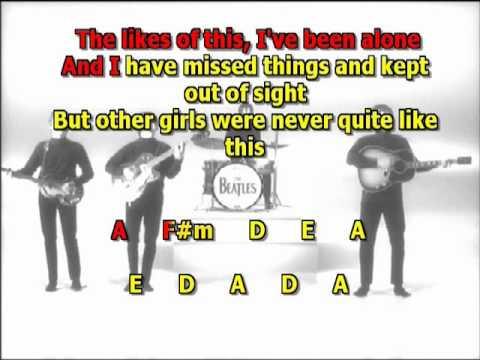 I ve just seen a face Beatles best karaoke instrumental lyrics ...