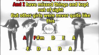 I ve just seen a face Beatles best karaoke instrumental lyrics chords