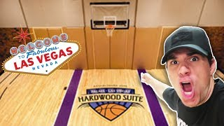 BASKETBALL COURT IN MY HOTEL ROOM!! (Most Expensive Hotel Room)