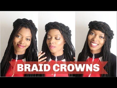 3-in-1 CROWN BRAID LOCSTYLE   Keisha Charmaine