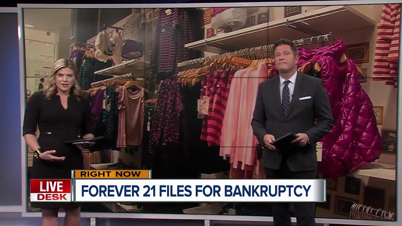 Forever 21 files for bankruptcy and will close up to 178 US stores