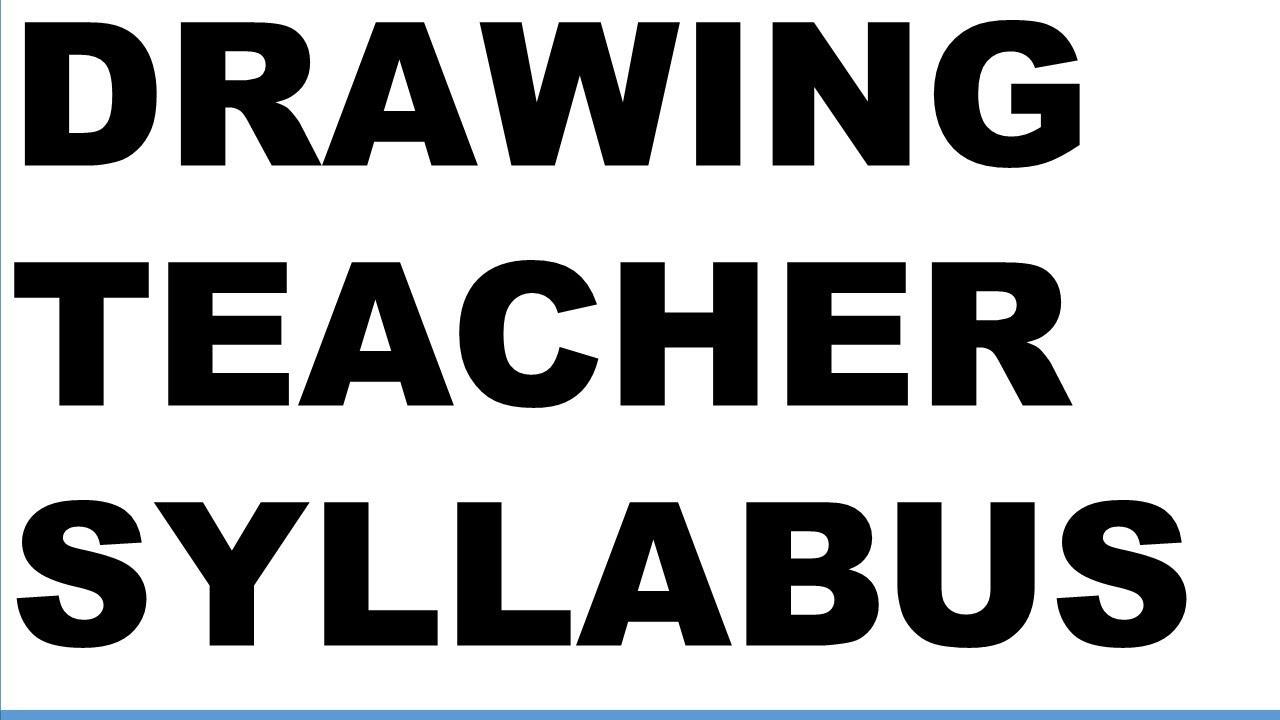 TRB NEW DRAWING TEACHER SYLLABUS 2018