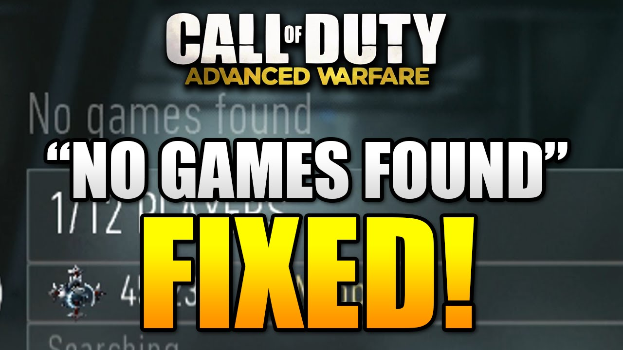 advanced warfare matchmaking fix