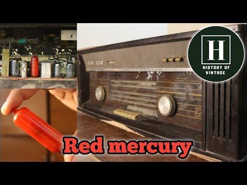 Vintage Philips valve radio | Red mercury | 1960 | Informative video