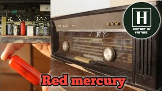 Vintage Philips valve radio | Red mercury | 1960 | Informative video