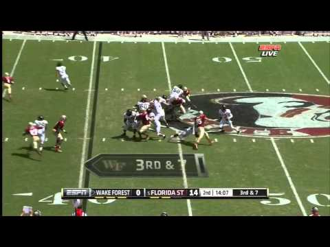 Bjoern Werner vs Wake Forest 2012