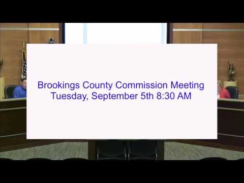 Brookings County Commission 2017-09-05